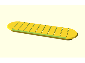 Reinforced cover plate for manhole cover hole: length L & width W