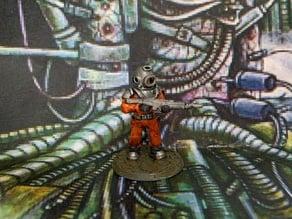28mm Space Miner Guard Miniature
