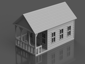 Country Cabin for Tabletop Wargames
