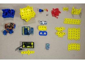 Smart robot with 3d Print modular blocks