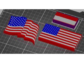 USA Flag Fridge Magnet