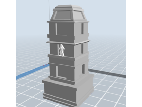 Mayan lighthouse / watchtower / palace tower of Palenque scaled for 6mm & 10mm tabletop terrain
