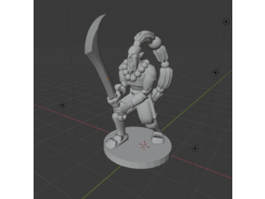 Warcraft Blademaster - Half-orc Fighter
