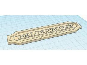 Rey Skywalker Nameplate for lightsaber base