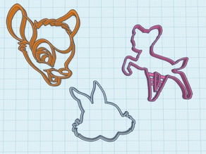 Bambi Cookie Cutter Set