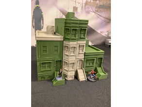 NY Brownstone 28mm Wargaming Remix