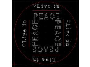 "Drink coaster - ""Live in Peace"" profile"