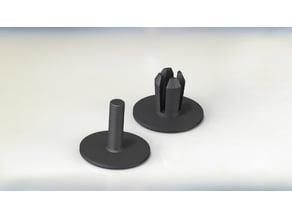 Push pin clip