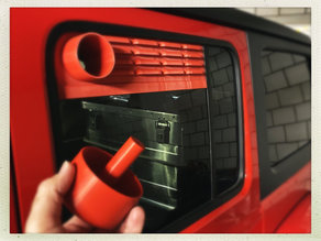 Jeep Wrangler JLU window aeration panels