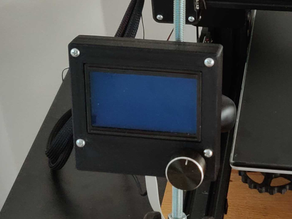 CR-10 Display mount for M8 tethered rod