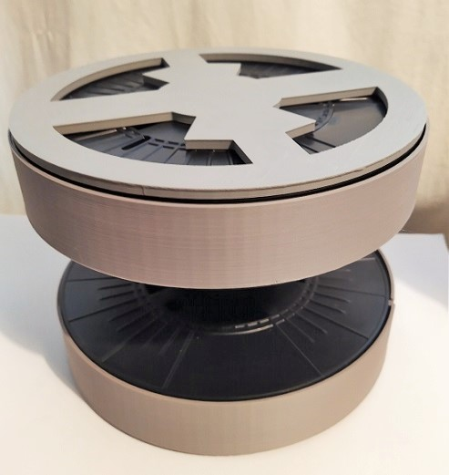 Icing Turntable or Cake Stand with Drawers made from Filament Spool