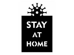 Stay home stencil 2