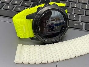 Articulated Garmin Fenix 3/5x/6x 26mm wristband/watchband