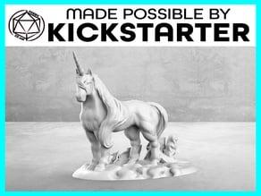 Unicorn - Casual Pose - Tabletop Miniature