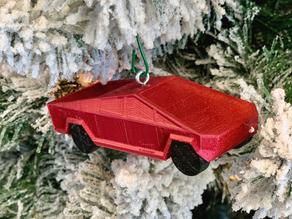 Tesla Cybertruck Christmas Ornament