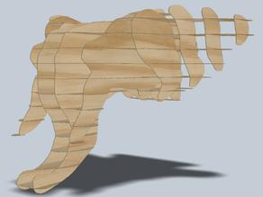 Elephant Laser Cut