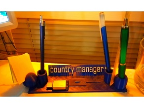 Pen-holder with name title and extras v1.5