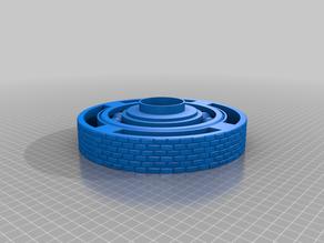 Miniature Display Print in place Rotating Bearing Base