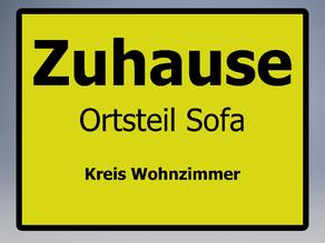 Schild Zuhasue
