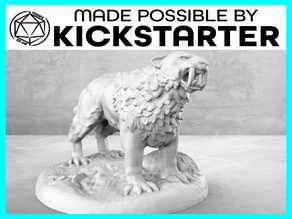 Saber Tooth Tiger - Action Pose - Tabletop Miniature