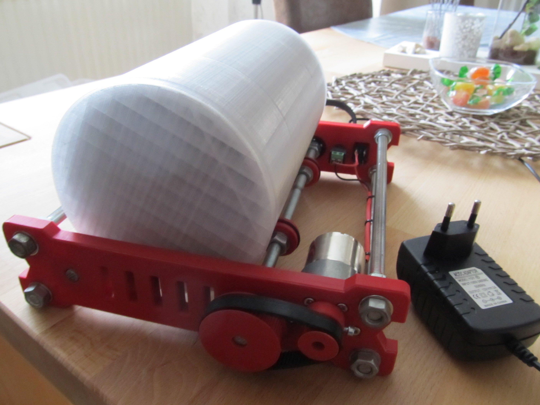 simple, affordable & printable diy rock tumbler / tumbler drum by