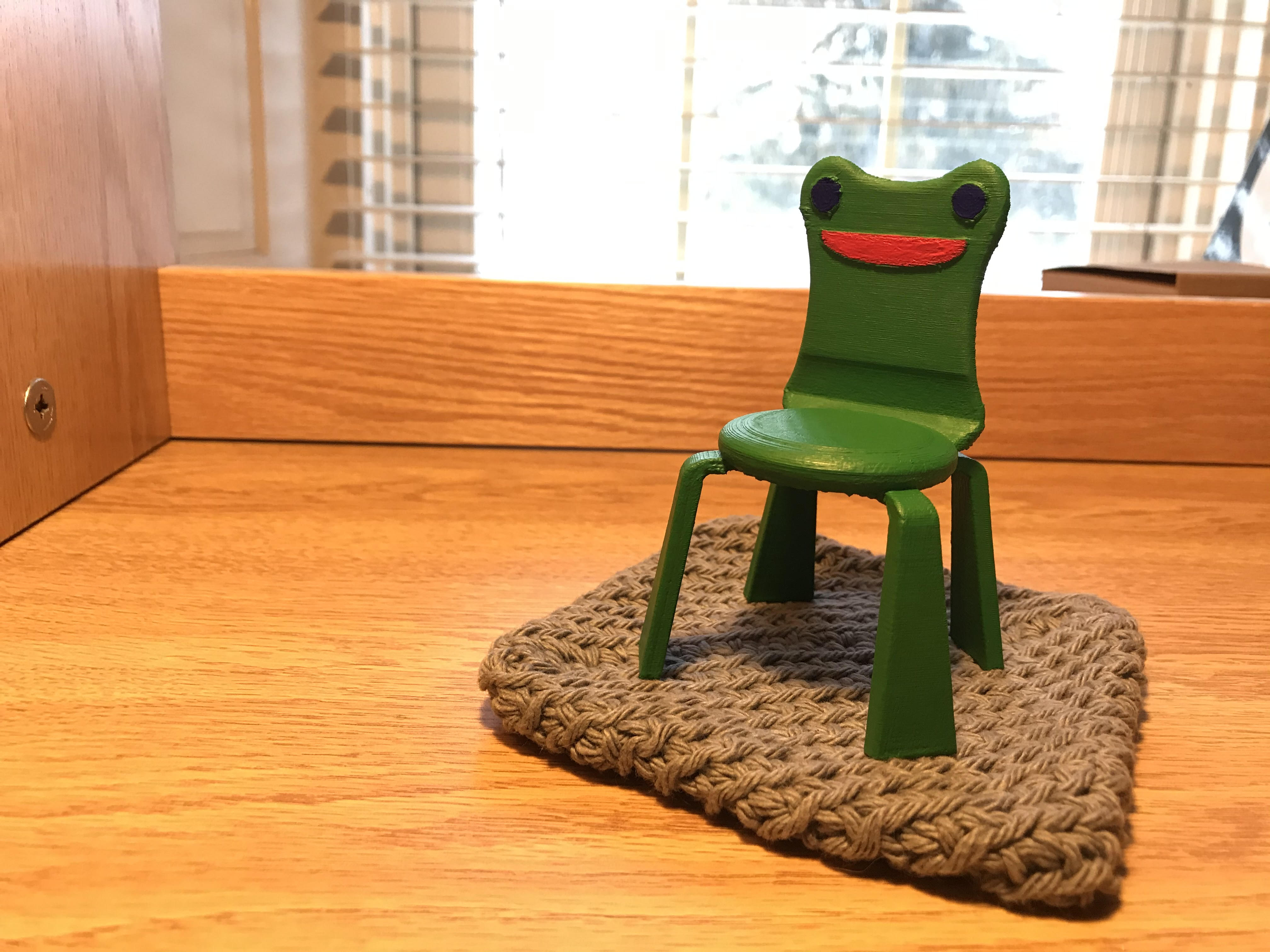 Makes Of Froggy Chair Animal Crossing By Lspagnoli Thingiverse