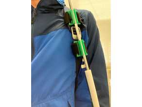 Umbrella holding attachment for stroke patients