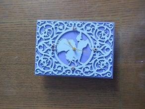 Unicorn Stained Glass Clock Mod