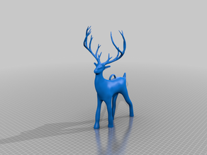 Holiday Christmas Deer With Loop