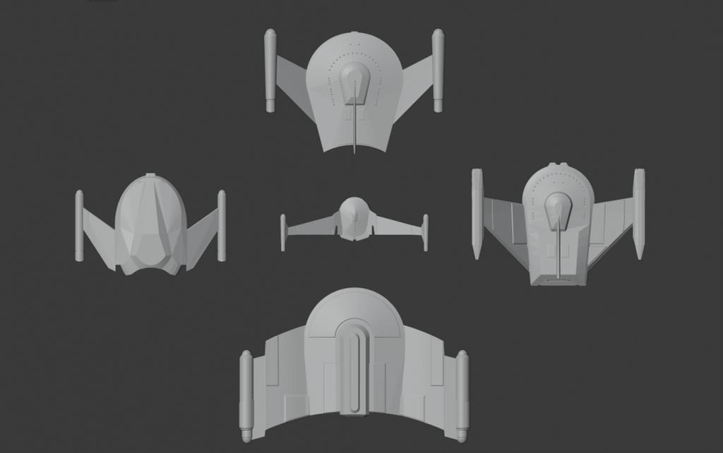 Star Trek starship parts kit expansion #7: FASA TOS era Romulans
