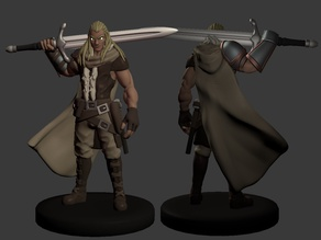 Human Barbarian/Fighter Miniature