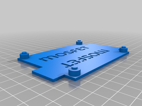 Mounting plate for heatbed mosfet