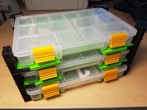 Universal stanley organizer shelving system ;storage organizer with lock V 2.0