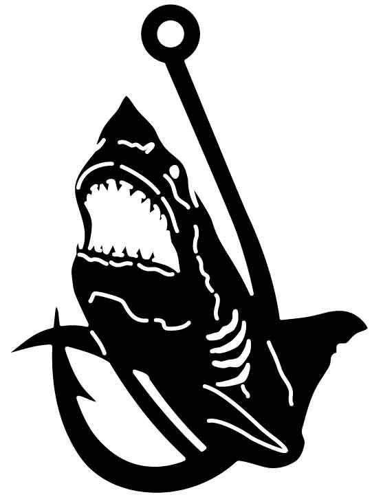 2D Shark Hook