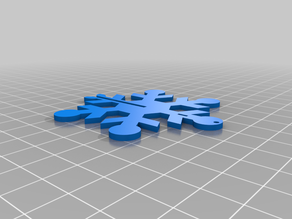 Snowflake decor D3D