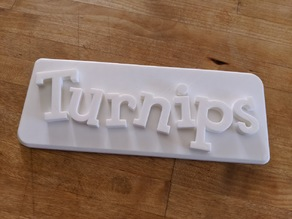 Animal Crossing style turnip sign