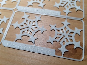 Sněhová vločka - vylamovací karta
