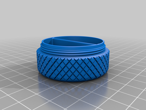 50 mm two partition knurled Stash Pot