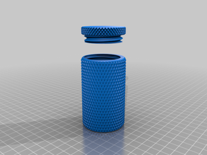 Knurled container