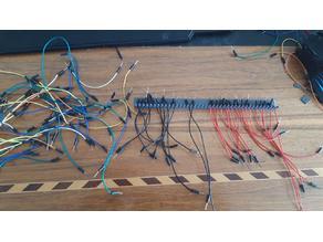 Breadboard cable organizer