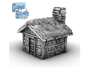 Simple Stone Shack and Thatch *Complete Item* *Promotional**