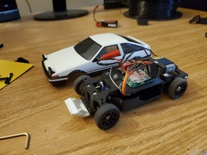 Fully Printed 1:28 RC Car Chassis (MINI-Z compatible)