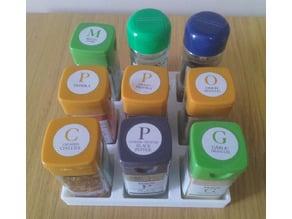 Spice rack - numerous variants + parametric + source file