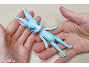 Simple bunny ball joint doll