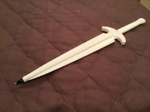 Steel dagger pen