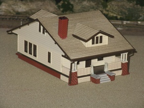 "HO Scale ""The Vallonia"" House"
