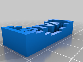 My Customized Project: Nameplate Generator with OpenSCAD