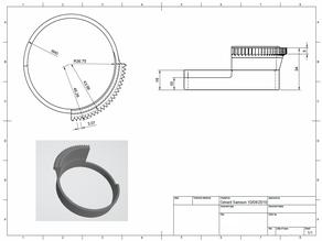 Bague Zoom 73.5 pour objectif Nikon avec caisson Isotta