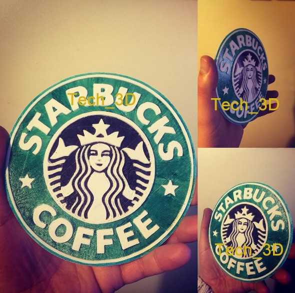 Starbucks logo by Tech_3D - Thingiverse