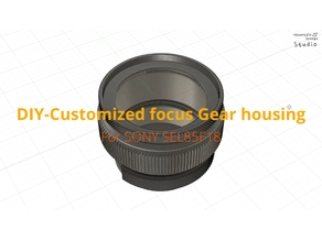 Customized focus gear housing-SONY 85mm f1.8(SEL85F18), Lens Protector & Cinema style